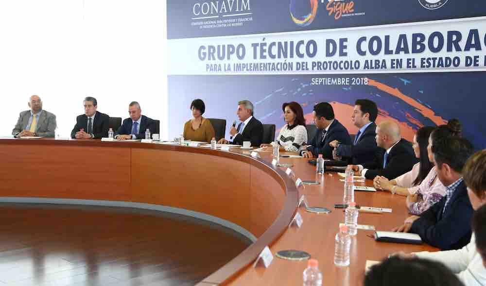 Resultado de imagen para Instalan Grupo Técnico del Protocolo Alba en Puebla