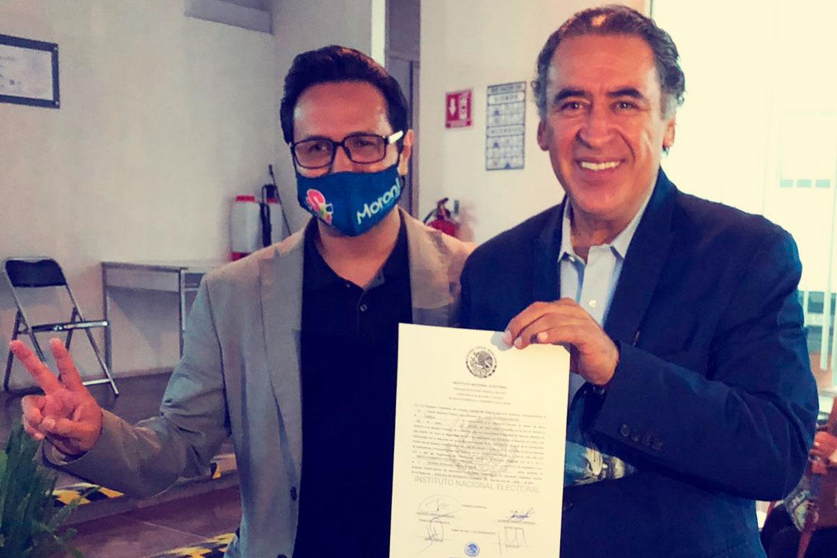 RECIBE HUMBERTO AGUILAR CORONADO CONSTANCIA DE MAYORÍA